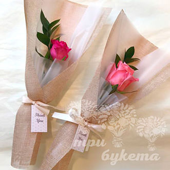 Мини-букет из розовой розы